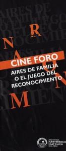 """Cine foro: """"Aires de familia o el juego del reconocimiento"""""""