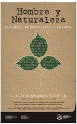 """""""Hombre y naturaleza"""", IV Simposio de Estudiantes de Filosofía"""