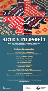 """Ciclo de conferencias: """"Arte y filosofía"""""""