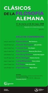 """Ciclo de conferencias: """"Clásicos de la filosofía alemana"""""""