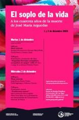 """""""El soplo de la vida"""", A los cuarenta años de la muerte de José María Arguedas"""