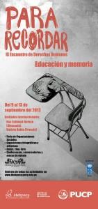 """Conversatorio """"Volver sobre lo vivido desde el arte y el lenguaje: ética, estética y educación en el Perú"""""""