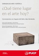 Jornadas de Arte y Estética: ¿Qué tiene lugar en el arte hoy?