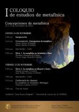 I Coloquio de estudios de metafísica: concepciones de metafísica