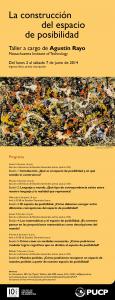 La construcción del espacio de posibilidad, taller a cargo de Agustín Rayo (MIT)