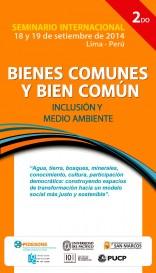Seminario sobre bienes comunes y bien común: inclusión y medio ambiente