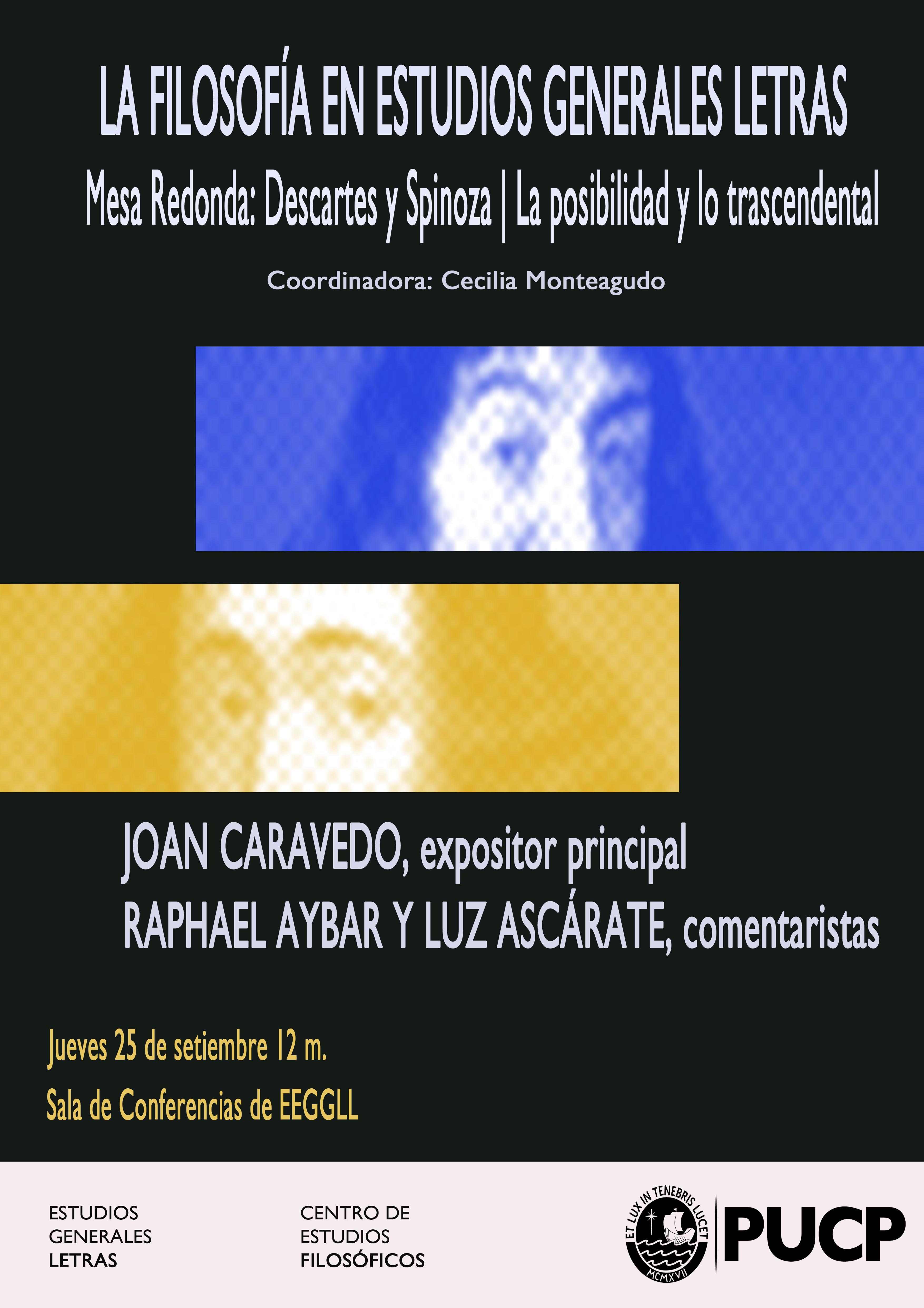 Descartes y Spinoza: la posibilidad y lo trascendental. Mesa redonda ...