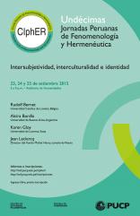 XI Jornadas Peruanas de Fenomenología y Hermenéutica
