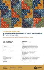"""Coloquio Internacional de la Red Latinoamericana de Estudios sobre el Reconocimiento (RELAER): """"El paradigma del reconocimiento en la ética contemporánea. El estado de la cuestión"""""""