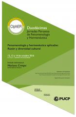 """XII Jornadas de Fenomenología y Hermenéutica: """"Fenomenología y hermenéutica aplicadas: Razón y diversidad cultural"""""""
