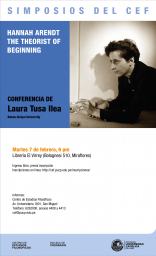 "Conferencia ""Hannah Arendt – The Theorist of Beginning"" de la profesora Laura Tusa Ilea (Babes-Bolyai University, Rumanía)"