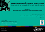 """Presentación del portal web El Talón de Aquiles y mesa redonda sobre """"La enseñanza de la Ética en las universidades"""" en la Universidad Nacional Jorge Basadre Grohman (Tacna)"""