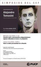 Simposios del CEF. Conferencias de Alejandro Tomasini (Instituto de Investigaciones Filosóficas, UNAM)