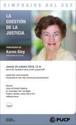 """Simposios del CEF. Conferencia """"La cuestión de la justicia"""" de Karen Gloy (Universidad de Lucerna)"""""""