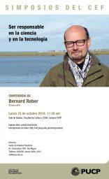 """Simposios del CEF. Conferencia """"Ser responsable en la ciencia y en la tecnología"""" de Bernard Reber (SciencesPo)"""