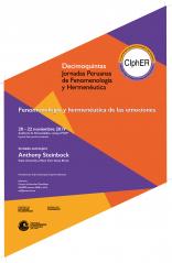 """XV Jornadas Peruanas de Fenomenología y Hermenéutica: """"Fenomenología y hermenéutica de las emociones"""""""