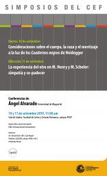 Simposios del CEF. Conferencias de Ángel Alvarado (Universidad de Wuppertal)