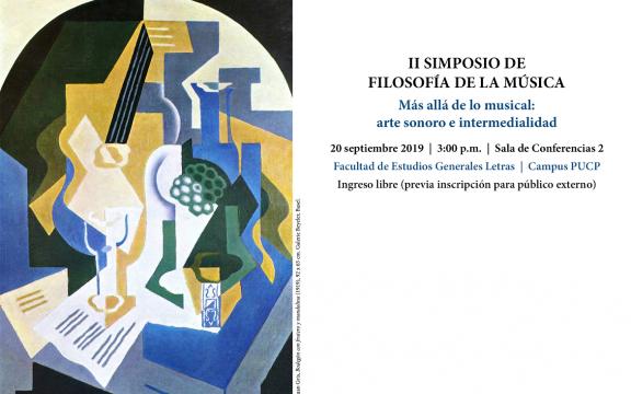 """Imagen destacada de II Simposio de filosofía de la música: """"Más allá de lo musical: arte sonoro e intermedialidad"""""""