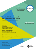 XVI Jornadas Peruanas de Fenomenología y Hermenéutica: La subjetividad reconsiderada más allá del hiato en la cultura. Responsabilidad ante la crisis del 2020