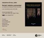 """Presentación del libro """"Verdad, historia y posverdad. La construcción de narrativas en las humanidades"""", editado por Miguel Giusti"""