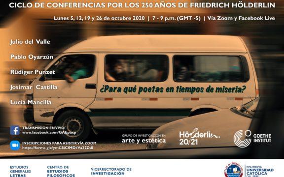 """Imagen destacada de """"¿Para qué poetas en tiempos de miseria?"""" Ciclo de conferencias por los 250 años de Friedrich Hölderlin"""
