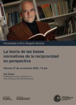 La teoría de las bases normativas de la reciprocidad en perspectiva. Homenaje a Ciro Alegría Varona